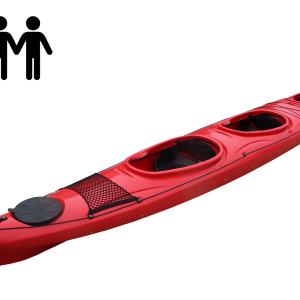 Kayak TRIO 3 seats with rudder rental & shop at Jurmala Waterski & Wakeboard park